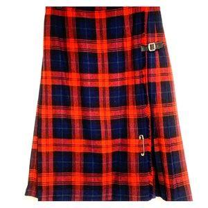 Scottish Tartan Plaid - Vintage Skirt